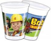 Bob de Bouwer Bekers Plastic 200ml 8 stuks