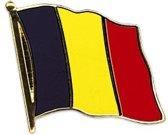 België Vlag Pin - 20 mm - Zwart/Geel/Rood