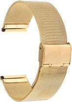 Horlogeband- metaal - Goud- 14 mm