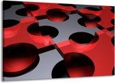Canvas schilderij Modern | Rood, Grijs | 140x90cm 1Luik