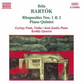 Bartok: Rhapsodies 1 & 2, Piano Quintet / Pauk, Jando, etc