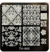 Stamping Plate 002 / nagel stempel- sjabloon