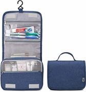 Reis Toilettas Hangend met Haak – Travel Etui Organizer voor Toiletartikelen Kamperen & Reizen – Toilet Bag – Blauw