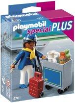 Playmobil Stewardess met Trolley - 4761