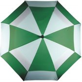 Golfparaplu groen/wit