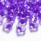 Tafel hartjes paars 21mm