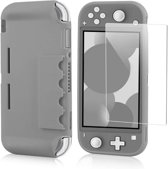YourSupply Nintendo Switch Lite Beschermhoes + Screen Protector - Switch Lite Accessoires - Donker grijs