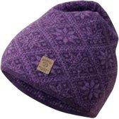Ivanhoe gebreide muts van wol Elsie Purple - One Size - Paars
