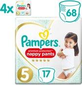 Pampers Premium Protection Pants - Maat 5 (12-17 kg) - 68 Stuks - Luierbroekjes