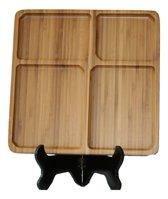 Bamboe Serveerschaal 4-Vaks