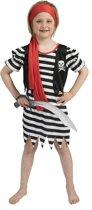 Piraat & Viking Kostuum | Pirate Dyonne | Meisje | Maat 116 | Carnaval kostuum | Verkleedkleding