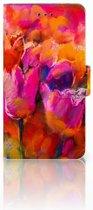 Nokia 7 Boekhoesje Design Tulips