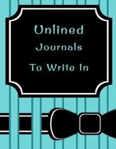 Unlined Journals to Write in