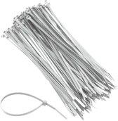 Industriele Witte Kabelbinder Set – 50 stuks - 4,8 x 282 mm |  UV-bestendig | Wit|  Kabelbinders | Tie Rips | Tierips