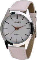 Fako Bijoux® - Horloge - Honhx - Classic - Wit