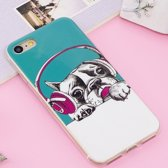 Let op type!! For iPhone 8 & 7 Noctilucent IMD Dog Pattern Soft TPU Back Case Protector Cover
