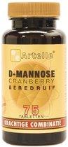 Artelle D-Mannose Cranberry Beredruif - 75 Tabletten - Voedingssupplement