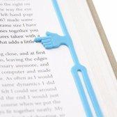 LeuksteWinkeltje boekenlegger - Elastiek - blauw - Hand Help Me