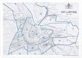 Aandemuur Poster Kaart Stadsuitbreiding Amsterdam (uit 1915)