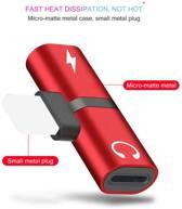 2 in 1 iPhone splitter - Metallic Red