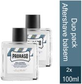 Proraso blue-2 x  100 ml - Aftershavebalsem- Duo pack