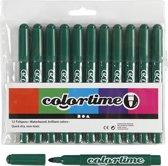 Colortime stift,  5 mm lijn, donkergroen, 12 stuks