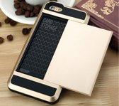 Telefoonhoes - Telefooncase - Telefoonhoesje pasjes - iPhone 5/5s - Goud