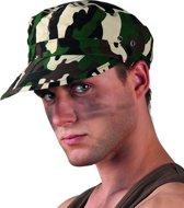 Militair camouflage pet voor volwassenen - Verkleedhoofddeksel