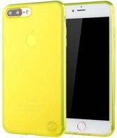 iPhone 7 Plus geel siliconenhoesje transparant siliconenhoesje / Siliconen Gel TPU / Back Cover / Hoesje Iphone 7 Plus geel doorzichtig