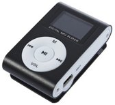 Mini MP3 Speler met LCD [zwart] + oortjes en opbergtas