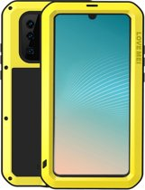 Metalen Fullbody Case voor Huawei P30 Pro, Love Mei, metalen extreme protection case, zwart-geel