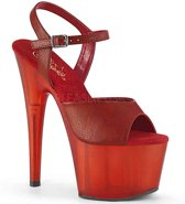 Pleaser Sandaal met enkelband -35 Shoes- ADORE-709T Rood