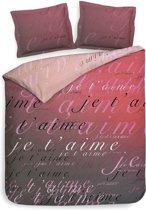 Heckett & Lane Luca - Dekbedovertrek - Tweepersoons - 200x200/220 cm + 2 kussenslopen 60x70 cm - Romance Pink
