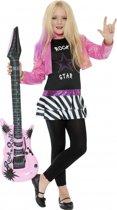 Rockstar kostuum voor meiden 128-140