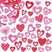 Hartvormige foam stickers - knutselspullen voor kinderen - scrapbooking verfraaiing om te maken en versieren kaarten decoraties en knutselwerkjes (130 stuks)