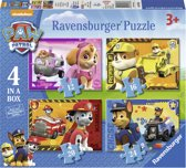 Ravensburger Paw Patrol Puppies op pad Vier puzzels -12+16+20+24 stukjes - kinderpuzzel