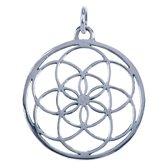 Zilveren Levenszaad ketting hanger