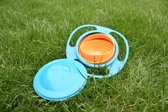 Baby kom _Gyrobowl _ Anti Mors _ 360 Graden roterend _ Spill Proof _ Oranje/Blauw