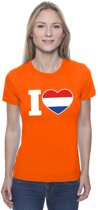 Oranje I love Holland shirt dames XS