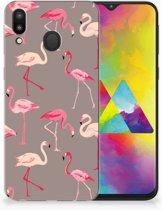 Samsung Galaxy M20 Uniek TPU Hoesje Flamingo