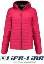 Life-Line Lute - Dons-look Winterjas Dames Fuchsia