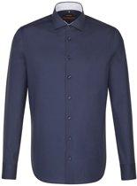 Seidensticker overhemd slim fit donkerblauw, maat 43
