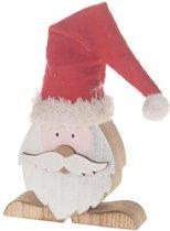 Kerstdecoraties - Houten Kerstman 12x12x2.5cm