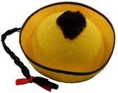 Gele Chinese hoed met vlecht
