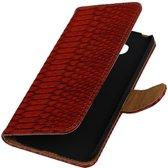 Rood Slang booktype cover hoesje voor LG G5