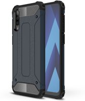 Samsung Galaxy A50 Hoesje - Armor Hybrid - Donkerblauw