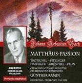 Js Bach: Matthaus Passion (Frankfurt Radio 1952)