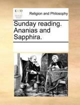Sunday Reading. Ananias and Sapphira.
