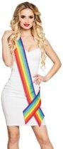 Regenboog gekleurde sjerp volwassenen - Verkleedattribuut
