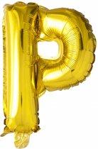 Folie Ballon Letter P Goud XL 86cm leeg